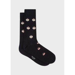 Paul Smith Black Polka Dot Stripe Socks Size L NWT